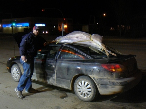 Redneck way to transport a dead deer??!