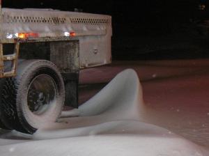 Cool snowdrift