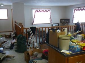 Looking toward the sunken living room