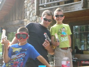 Boys & Guns = lots of fun!